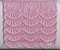 Bubulinaaa : Alsacian scallops knit (counterpane) free pattern