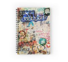 Graffiti Szimpla I Love Budapest Spiral Notebook designed by Andras Balogh now available on RedBubble