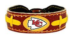 Kansas City Chiefs Team Color Football Bracelet Z157-4421402207