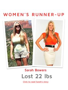 Women's Runner-up - Sarah Bowers - Click to read Sarah's story   Brand Vemma...We love our products, and we're pretty darn sure you'll love them, too! In fact, try them risk-free with our 100% 30 Day Empty Bottle money-back guarantee. www.imick71.vemma.com/bode