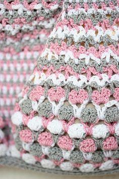 Crochet Bikini in grey, withe and pink , Lace crochet bikini, Swimwear, Crochet Swimsuit, Crochet top and bikini