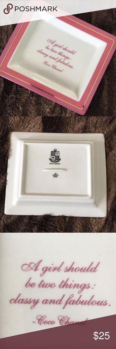 Coco Chanel Jewelry Tray Pink quote tray or jewelry dish CHANEL Other