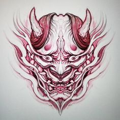 No photo description available. Hannya Tattoo, Demon Tattoo, Samurai Tattoo, Japanese Tattoo Art, Japanese Tattoo Designs, Baby Tattoos, Body Art Tattoos, Tattoo Sketches, Tattoo Drawings