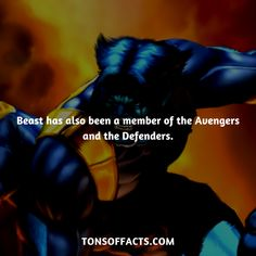 Beast has also been a member of the Avengers and the Defenders. #beast #tvshow #theavengers #comics #marvelcomics #interesting #fact #facts #trivia #superheroes #memes #1 #movies #hero #heroes #xmen