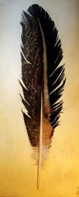 Ana Pellón | Art Gaucín. I've been on a feather-kick lately with watercolors. I'll post them sometime.