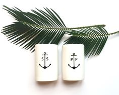 Make sure your table is in ship shape with these ceramic salt and pepper shakers. Both are oval in shape ...