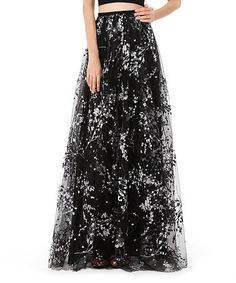 Another great find on #zulily! Black Embellished Maxi Skirt #zulilyfinds