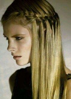peinados suelto trenza de costado - Buscar con Google