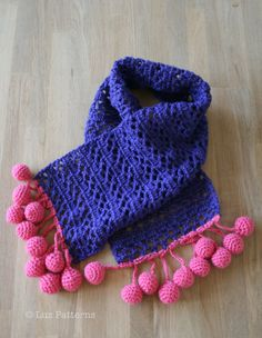 Crochet Pattern crochet scarf pattern with bubbles by LuzPatterns