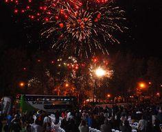 Fuegos artificiales. Fiesta nacional de la manzana.