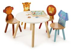 John Crane Tidlo Safari Table And Chairs Set
