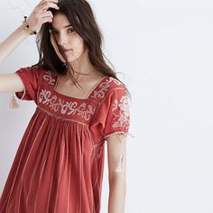 Ulla Johnson™ Embroidered Tunic Dress