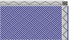 I think braided twills looks like it woven striped ribbons. I used the same 60/2/3 Silk as the previous samples. There are drafts for braided twills in many weaving texts, here is one version f…
