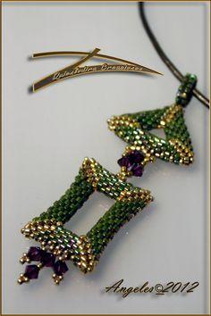 triangle & rectangle pendant - Quienlodira Creaciones