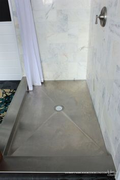 Stainless Steel Shower Pan Expect Water Spots I Dont Think That Would Bother Me In The Unlike Kitchen
