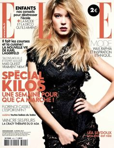 Lea Seydoux for Elle France March 2012. Photographed by Jan Welters.