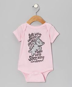 Take a look at this Pink 'Soft Kitty' Bodysuit - Infant by The Big Bang Theory on #zulily today!