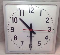 Rauland Borg 2462 Square, Flush, System Clock, School/Industrial, NEW Clocks For Sale, Selling On Ebay, Industrial, School, Industrial Music