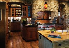 Rustic & Country Kitchen Design... SEE NOW THATS A GORGEOUS KITCHEN.... GIMMEEEEE