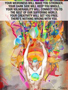 Spirit Science, Yoga Quotes, Life Quotes, Set You Free, Note To Self, Spiritual Awakening, Mixed Media Art, Vulnerability, Dark Side