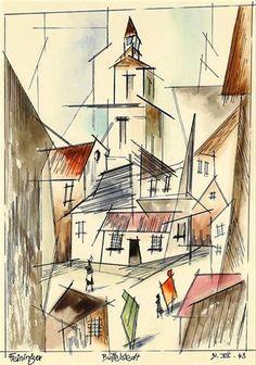 Lyonel Feininger - Buttelstedt, 1943