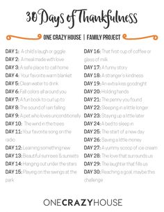 30 Days of Thankfulness | Family Project