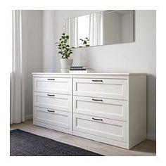 SONGESAND 6-drawer dresser, white - 161x81 cm - IKEA