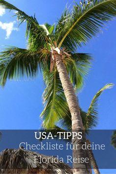 Du planst deine erste Reise in den Sunshine State nach Florida? Du fragst dich, was du bei deinem ersten Trip nach Florida beachten musst? Du hast Fragen zur Einreise in die USA? Wie sieht es eigentlich mit dem passenden Stromadapter aus? Reisepass? Versicherungen? Reiseapotheke? Mit dieser Checkliste wird deine Reise nach Florida einfacher. Schau vorbei und hab eine tolle Zeit in Florida