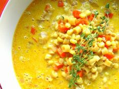 This Corn Soup is simple, delicious, and it has bacon and eggs! We've made it three times and it is always fantastic!