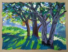 """Daily Paintworks - """"The Green Season"""" - Original Fine Art for Sale - © Kevin Gleason"""