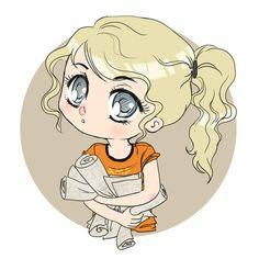 chibi annabeth by BlackNina.deviantart.com on @deviantART