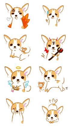 Long Haired Chihuahua Puppies, Chihuahua Art, Fun Poses, Critters 3, Cute Animal Illustration, Dog Pin, Arm Tattoo, Animal Drawings, Cute Art