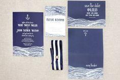 Items similar to Sea & Sail - Wedding Invitation on Etsy Nautical Wedding Stationery, Wedding Invitations, Invites, Bryan Miller, Watercolor Invitations, Save The Date, Sailing, Wedding Stuff, Wedding Ideas