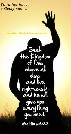 Seek the Kingdom of God above all else, and live righteously, and he will give you everything you need. Matt 6:33 hopefm.net