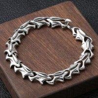 Game Of Thrones Targaryen Daenerys 925 Sterling Silver Dragon Armor Chain Bracelet 14k Gold Chain, Gold Chains, Metal Bracelets, Bracelets For Men, Bracelet Men, Dragon Bracelet, Cultured Pearl Necklace, Silver Dragon, Chains For Men