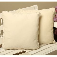 Add a beautiful look to your home with these natural decorative pillows. This set of two pillows is ideal for dressing up a couch or bench, and the corded edge gives each pillow a finished look. The cotton-velvet material is comfortable and soft.