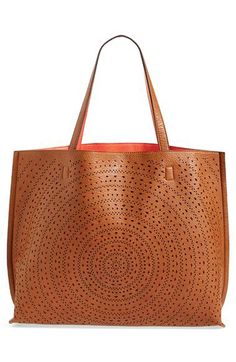 cdf44172a72 Street Level Laser Cut Reversible Faux Leather Tote