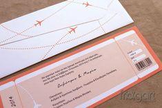 Προσκλητήριο Γάμου Εισητήριο Αεροπορικό