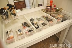 Diy Glass Top Makeup Vanity -