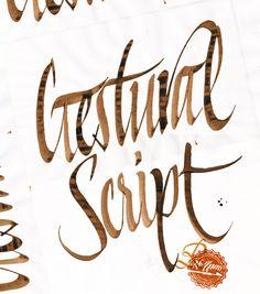 Gestural Script make by Rodolfo Fernandez Alvarez New Ruling Pens Hand Made by Rolfpens.com