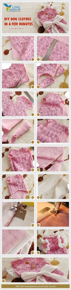 DIY Quick and Easy Small Dog Clothes: Turn Baby Clothes into Small Dog Clothes @Selvi Panding Beuttel here is something to make for your doggy clients. lol