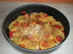 Tiella con patate e peperoni