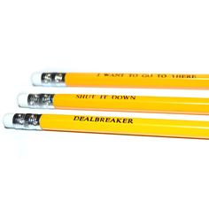 30 ROCK pack of 3 yellow stamped pencils. by PopCultPencils, £3.50