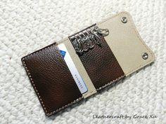 100% hand stitched handmade walnut brown por leathercraftbygrace