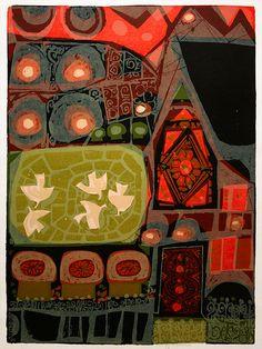 Weidman, artist from the 60's- not really Folk Art but has that naiive feeling.