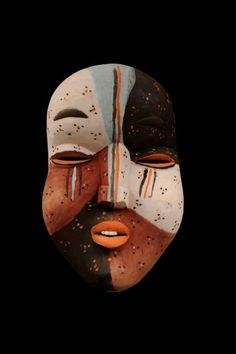 Woyo Ndunga Mask, DR Congo African Masks, African Art, Ritual Dance, Zoology, Gourd, Tribal Art, Congo, Masquerade, Archaeology