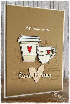"""Time for two"", Create a smile stamps - Coffee First, Stampin´up! - Gorgeous Grunge"