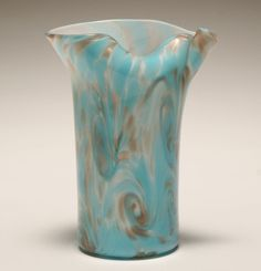 Murano+Art+Glass+Vases+|+Fratelli+Toso+Murano+art+glass+vase.+Internal+swirls+and+pinched+neck+...