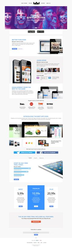 Dilemma - Multi-Purpose Landing Page by Zizaza - design ocean , via Behance