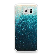 Blue Water Faux Glitter Samsung Galaxy S6 Case